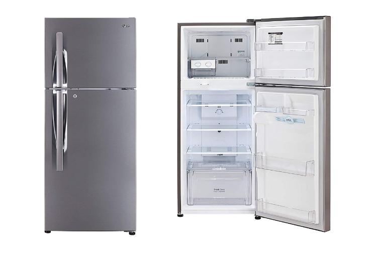 LG 260 L 3 Star Frost Free Double Door Refrigerator (GL-I292RPZL, Shiny Steel, Smar