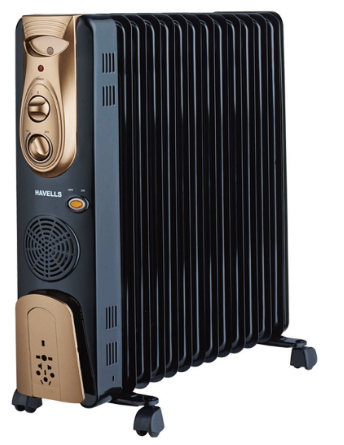 Havells OFR - 13Fin 2900-Watt PTC Fan Heater (Black