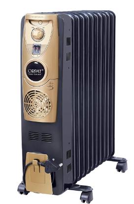 Orpat Oil Filled Radiator 11 Fins With PTC Fan Heater 2900 Watts